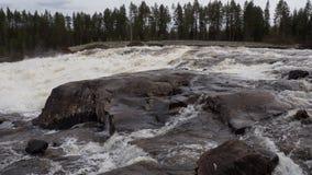 Storforsen, waterfall Royalty Free Stock Photos