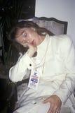 storgubben vilar efter den Clinton/levrat blodsegern, 1992 i Little Rock, Arkansas royaltyfri fotografi