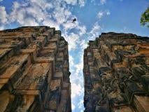 Storhet av Thailand som är forntida fördärvar Ayutthaya arkivfoton