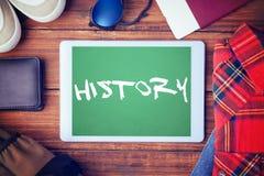 Storia contro verde fotografia stock