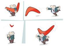 Storia del boomerang. illustrazione di stock