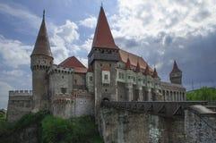 Storia del castello di Corvin Fotografia Stock Libera da Diritti