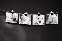 Storia della foto del bambino e della madre Fotografie Stock Libere da Diritti