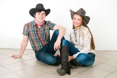 Storia di amore del cowboy Fotografia Stock