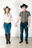 Storia di amore del cowboy Fotografie Stock Libere da Diritti