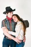 Storia di amore del cowboy Fotografia Stock Libera da Diritti