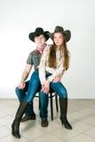 Storia di amore del cowboy Immagine Stock