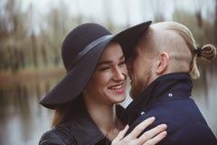 Storia di amore sparata di una coppia Fotografia Stock