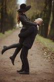 Storia di amore sparata di una coppia Fotografie Stock Libere da Diritti