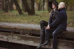 Storia di amore sparata di una coppia Fotografie Stock