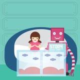 Storie di ora di andare a letto felici immagine stock - Storie di letto ...