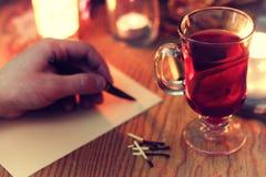 Storia di scrittura della mano di Natale Immagine Stock Libera da Diritti