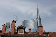 Storia e modernità di Milan Between Fotografia Stock