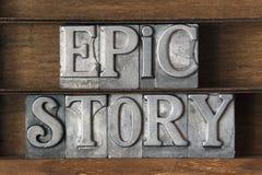 Storia epica Fotografie Stock