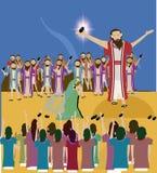 Storia Gesù della bibbia e l'adulterio contenuto donna Immagine Stock Libera da Diritti