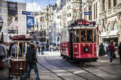 Storic tram in istanbul Stock Images