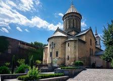 Storicamente la chiesa principale di Tbilisi, la cattedrale di Sioni immagini stock