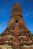 Storico e achcient le rovine a Ayutthaya Fotografie Stock