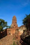 Storico e achcient le rovine a Ayutthaya Fotografia Stock Libera da Diritti