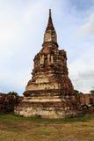 Storico ed antico le rovine a Ayutthaya Fotografie Stock Libere da Diritti