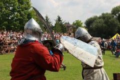 Storico, medievale, ricostruzione fotografia stock