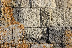 Wall of the street of Puglia. Storics and volcanic wall of the street of Puglia - Italy stock photo