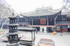 Storied building in Erwang temple Royalty Free Stock Images