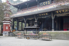 Storied building in Erwang temple Royalty Free Stock Photos