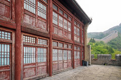 Storied building in Jinshanling Great Wall Royalty Free Stock Image