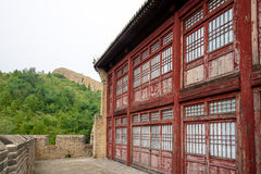 Storied building in Jinshanling Great Wall Stock Photography