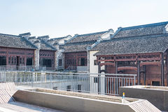 Storied building. This photo was taken in laomendong scenic spot, Nanjing city, Jiangsu province, china Stock Images