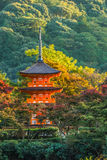 3-storied pagoda at Taisan-ji Temple in Kyoto Stock Image