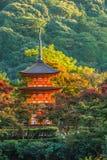 3-storied pagode bij Tempel Taisan -taisan-ji in Kyoto Stock Afbeelding