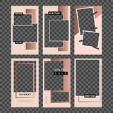Editable Stories template. Streaming. Mockup for photo isolated on transparent background. Vector illustration isolated on transpa stock illustration