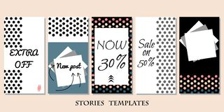 Stories template royalty free illustration