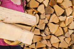 Storing Firewood Royalty Free Stock Image