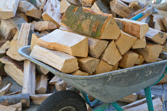 Storing Firewood Stock Photography