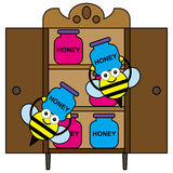 Storing honey Stock Images