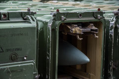 Storing missiles. Storing weapons in the museum Stock Photography