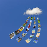 Storing photos on cloud Royalty Free Stock Images