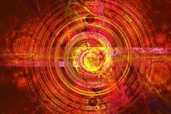 Storing van de atoomkern en elementair royalty-vrije illustratie