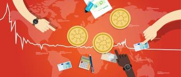 Storjoin ukuwa nazwę storj zmniejszania wekslowej wartości ceny puszka mapy cyfrową wirtualną czerwień Obrazy Stock