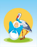 Stork with baby Royalty Free Stock Photo