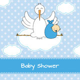 Stork with baby Royalty Free Stock Photos