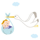 Stork baby Royalty Free Stock Photos