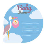 Stork with baby girl Stock Photography