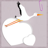 Stork for baby Royalty Free Stock Images