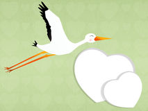Stork with baby Stock Photography