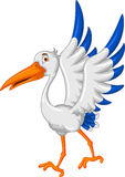 Stork cartoon posing Stock Image
