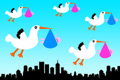 Stork city Stock Image
